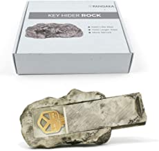 Hide-a-Spare-Key Rock - Looks & Feels Like Real Stone - Safe for Outdoor Garden or Yard, Geocaching (Type-A, 1 Pack)