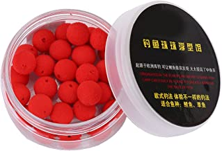 Tbest 30pcs 10/12mm Smell Carp Fishing Bait Foam Pop Up Soft Pellets Boilies Eggs/Floating Ball Beads Feeder Artificial Carp Baits Lure/Hair Rig (12MM-Red Strawberry Flavor)