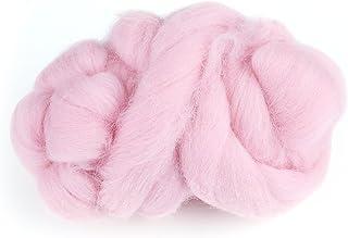 Fieltro de lana, aguja de lana ecológica Roving Fieltro de lana Juego de 8 colores Herramienta de lana giratoria para deco...