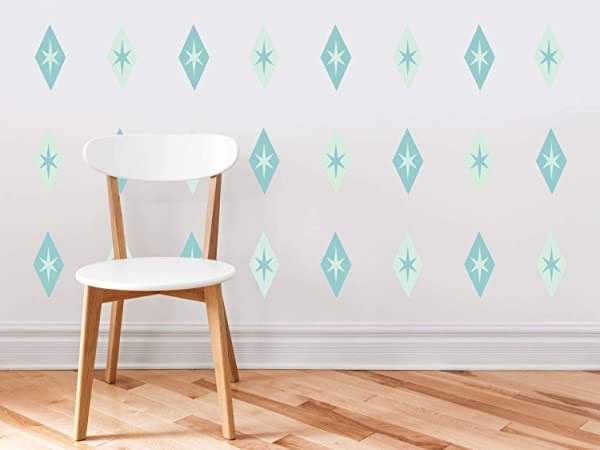 Sunny Decals Diamond And Stars Fabric Wall Decals Set Of 24