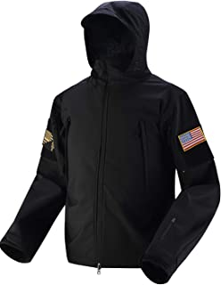 HARD LAND Tactical Jacket Men Waterproof Softshell Hooded Fleece Coat Military Hunting Jacket
