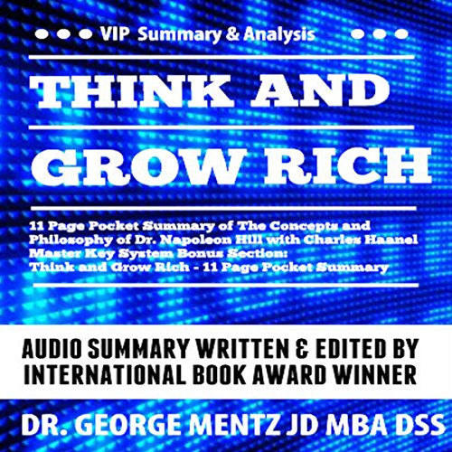 Think and Grow Rich - 11 Page Pocket Summary of the Concepts and Philosophy of Dr. Napoleon Hill with Charles Haanel Master Key System Bonus Section cover art