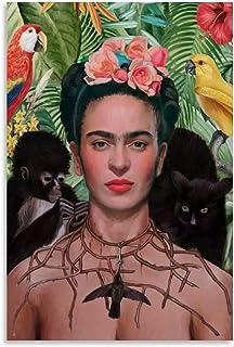 AAOO Posters Frida Kahlo - Peinture décorative sur toile pour salon, chambre à coucher - 30 x 45 cm