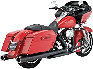 Vance & Hines Hi Output Slip Ons Black with Chrome End Caps 46759