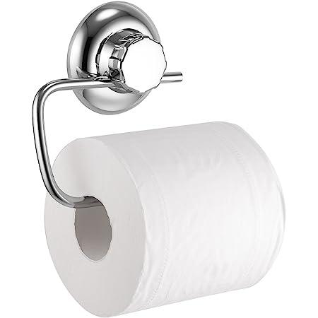 MaxHold Porte-Rouleau de Papier Toilette - Acier Inoxydable - Système de Vide Ventouse - Support Papier Rouleau Sans Perçage - pour Salle de Bains et Cuisine
