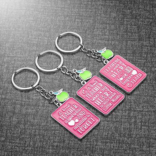 Teacher Gifts for Women - 3 Pack Teacher Keychain, Teacher Appreciation Gift, Thank You Gifts for Teacher, Christmas Valentine's Day Gifts for Teacher Photo #4