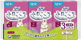 ソフィ ふわごこち ピンクローズの香り 38コ入×3個パック(unicharm Sofy)