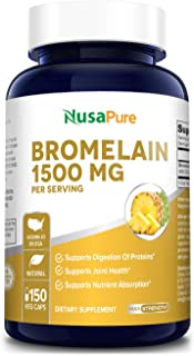 Bromelain 1500mg 150 Veggie Caps (Non-GMO & Gluten Free) - Supports Healthy Digestion, Anti- Inflammatory S...