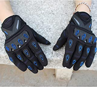 PinShang Motorcycle Protection Gloves Riding Gloves Off Road Dirt Bike Racing Gloves Blue XL