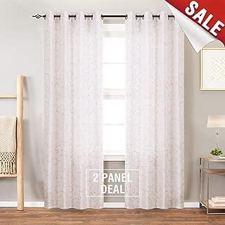 Best white dupioni silk curtains Reviews