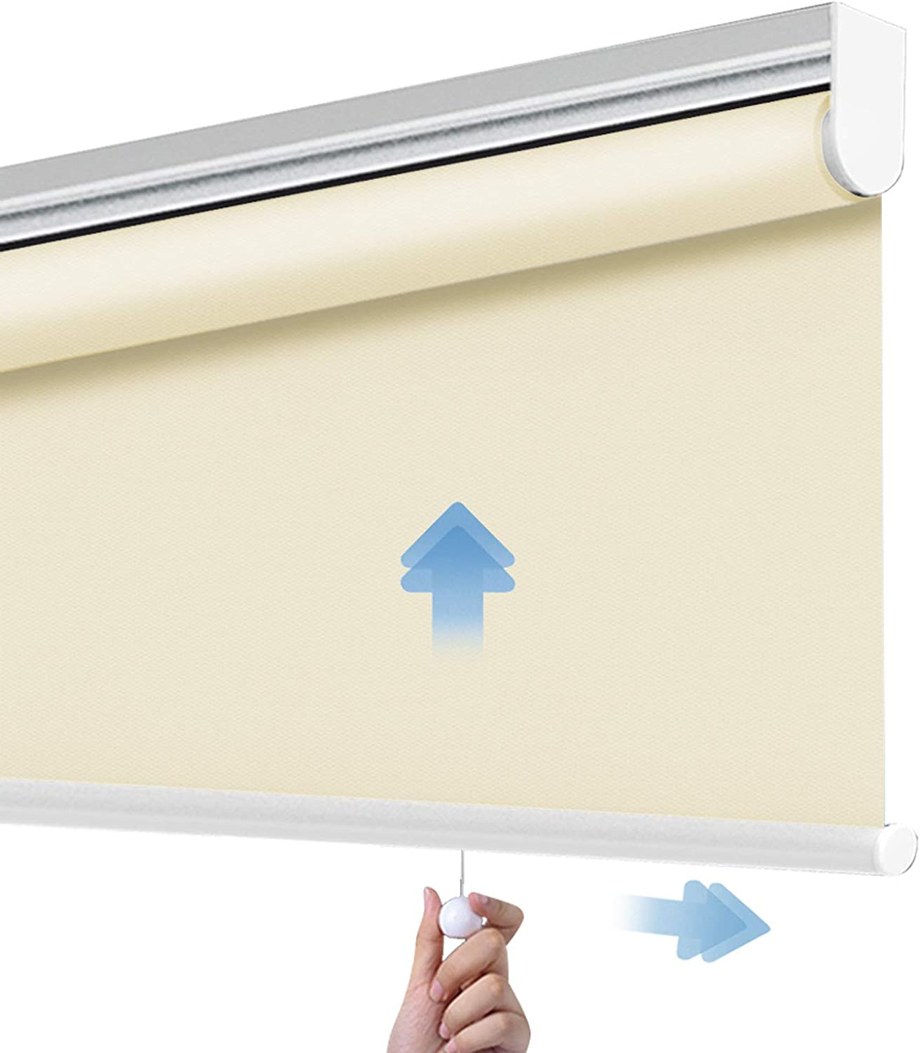 PASSENGER PIGEON Cordless Thermal Insulated Roller Shades, Black