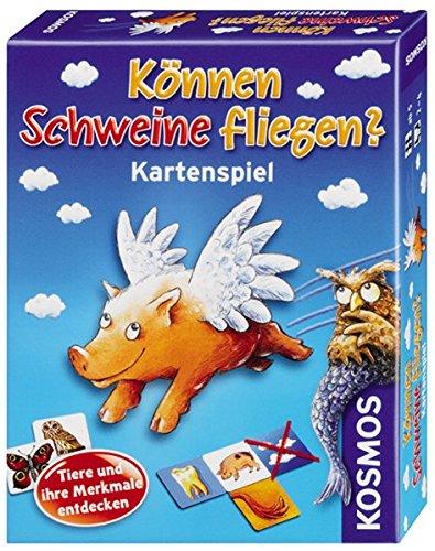 KOSMOS 741563 - Können Schweine fliegen? Das Kartenspiel zum beliebten Kinderspiel, für 2-4 Kinder ab 5 Jahre
