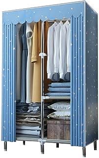 ZZYE Penderie Tissu Armoire, Organisateur de Stockage de Rangement Portable pour vêtements avec Compartiments et tiges 110...