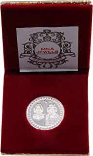 Msa Jewels Pure Silver 999 Coin 5 Gram of Laxmi And Ganesh With BIS Hallmark Set Of 1 (Round Shape)