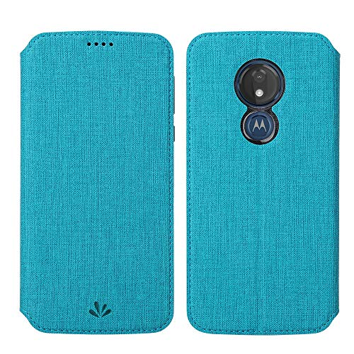 Eastcoo Kompatibel mit Motorola Moto G7 Power Hülle PU Leder Flip Hülle Tasche Cover Schutzhülle mit [Standfunktion][Magnetic Closure][Wallet]für Moto G7 Power Smartphone (Moto G7 Power, Blau)