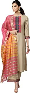 INDO ERA Women's Pure Cotton Salwar Suit