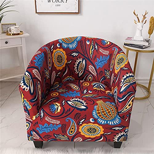 Funda de sofá elástica para silla de bañera, 1 pieza, para sillón, a prueba de polvo, extraíble, lavable, serie de flores, funda protectora impresa para muebles, fundas de sofá para sala de estar (es