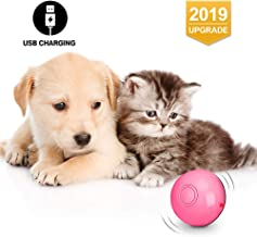 Octarch Interactive Cat Toy, USB Rechargeable Cat Toy Ball,360 Degree Automatic Rolling Pet Toy,Glitter Led Light Attact Your Kitty More Exercise and Stimulate Hunting Instinct