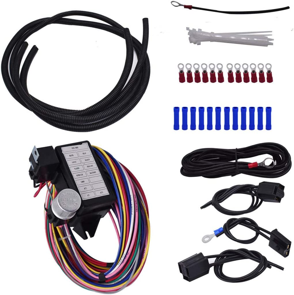 12 NEW before selling ☆ Circuit Universal Wire Harness Hot Rod Muscle Street High material Car