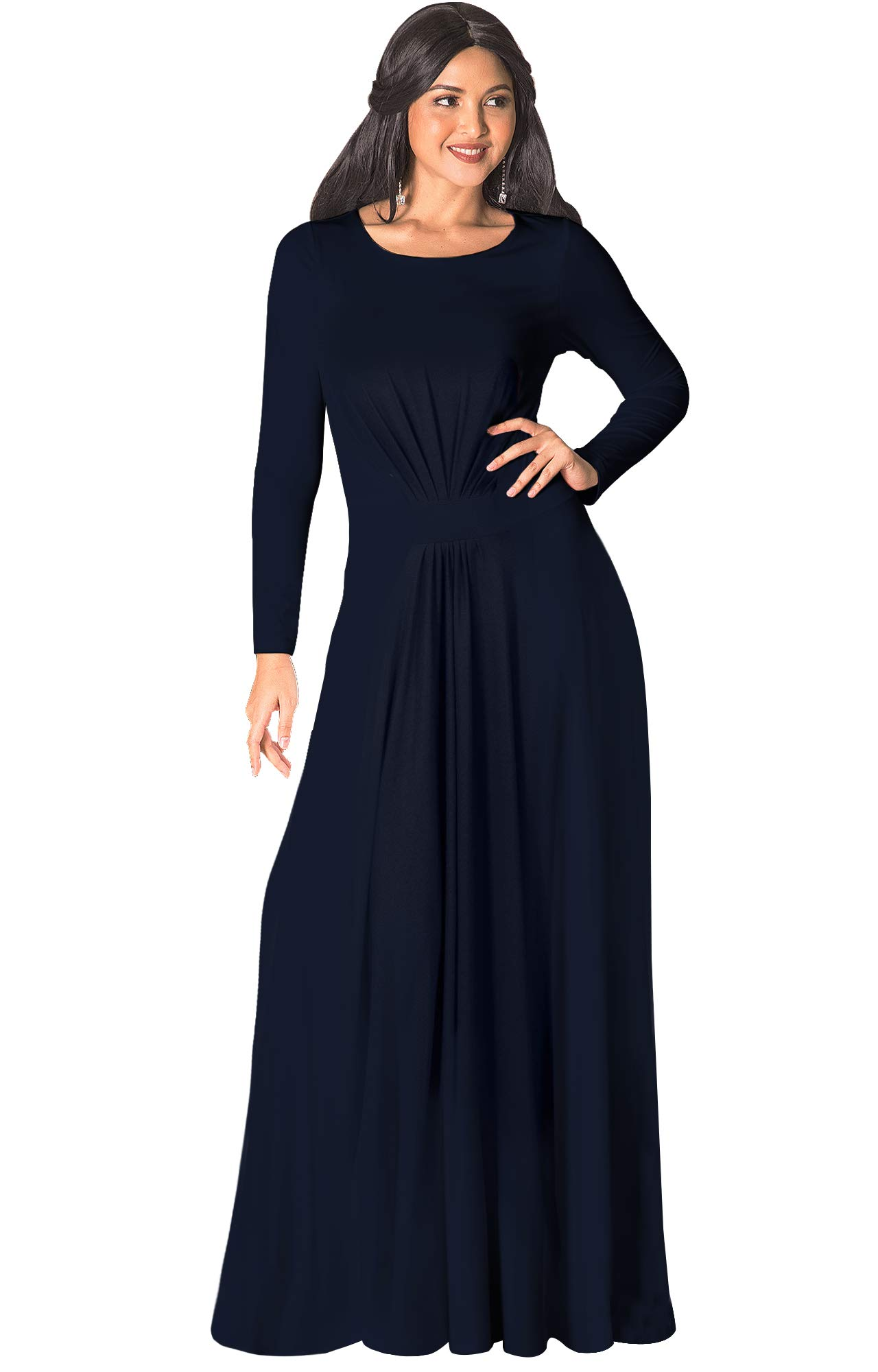 Available at Amazon: KOH KOH Sleeve Flowy Empire Waist Fall Winter Party Gown