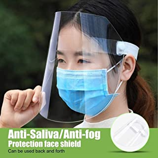 2PACK Face Shield Protect Eyes and Face with Protective Clear Film Elastic Band