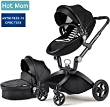 Baby Stroller 2018 Hot Mom Baby Carriage with Bassinet Combo(Black)