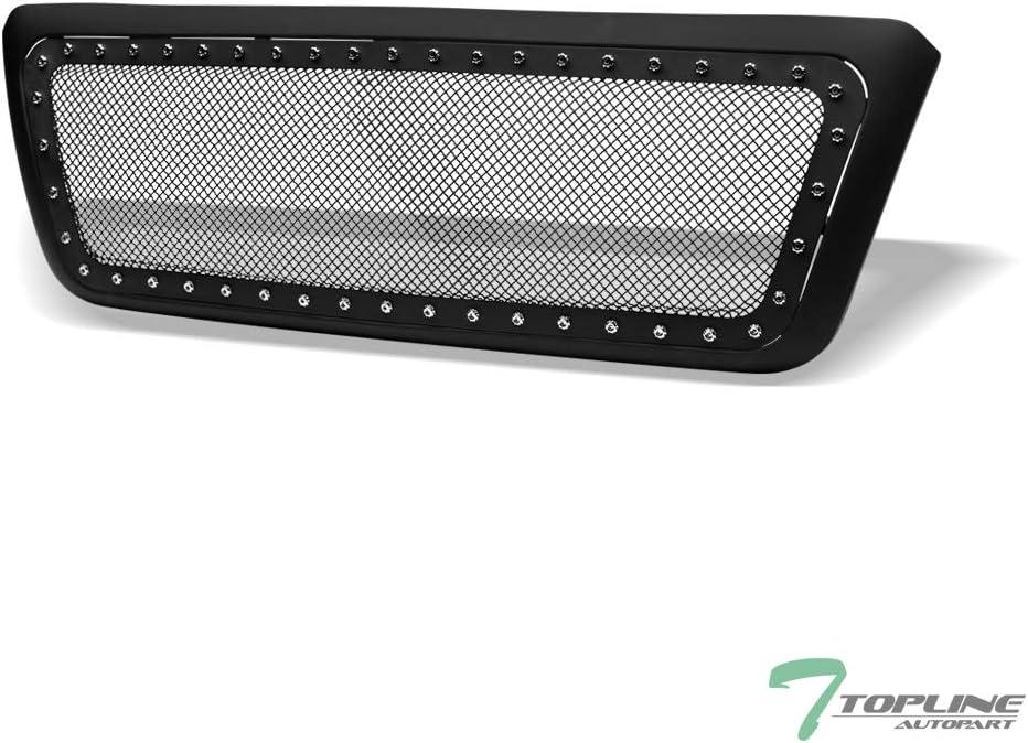 Topline Autopart Matte Black Dealing full price reduction RVT Rivet Hoo Mesh Front NEW before selling Bolt Steel