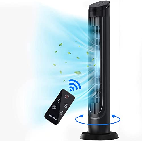 lowest yosager 40 online sale inch Tower Fan, 90° Oscillating popular Cooling Fan with Powerful 4 Speeds, Remote Control, 15H timer, Standing Fan for Indoor Bedroom Office outlet online sale