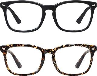 ?2Pack?SIPU Blue Light Blocking Glasses for Men Women, Computer Reading Anti Eyestrain& UV400 Glare Glasses for Unisex(No Magnification)