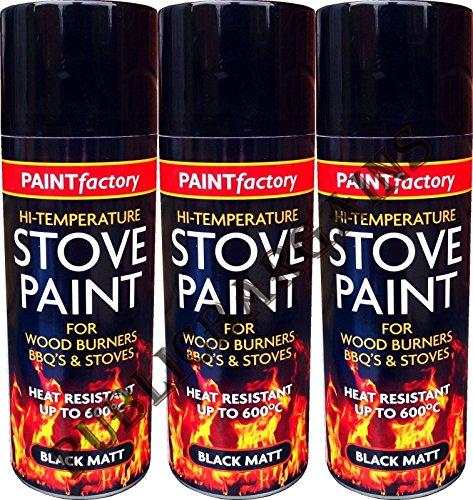 Heat Resistant Matt Black Spray Paint Stove High Temperature 400ML BBQ'S (3)
