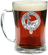 MacDonald (Clan Donald) Scottish Clan Crest Badge Glass Beer Mug