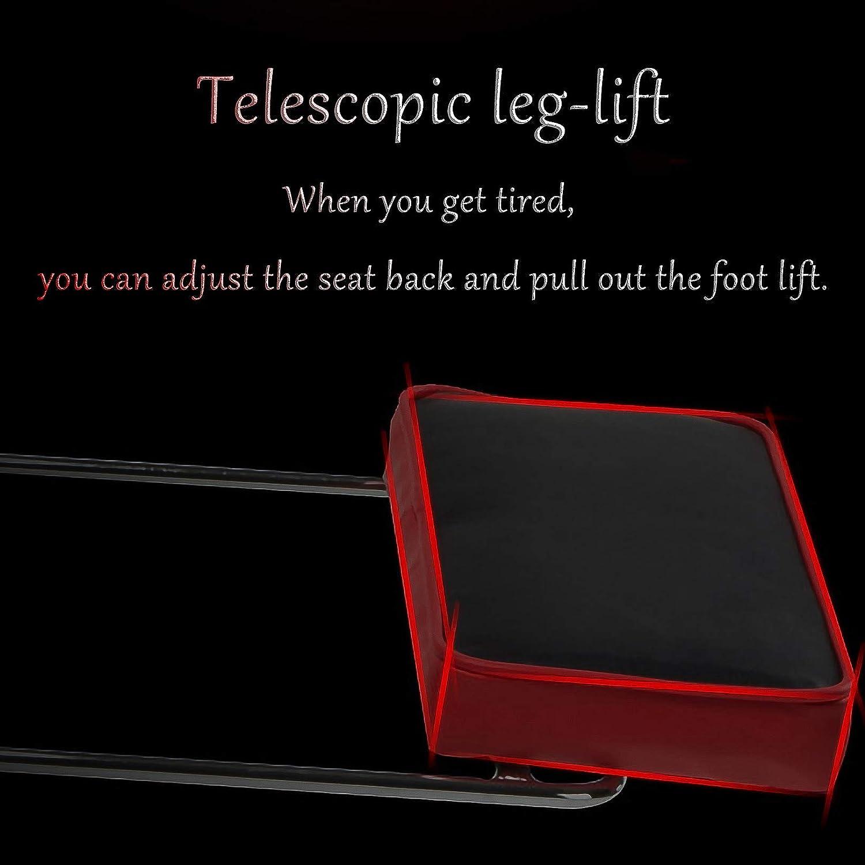 QHF Chaise de Bureau Ergonomique Chaise de Jeu, Chaise pivotante en Cuir PU Chaise inclinable à Dossier Haut réglable en Hauteur avec Repose-Pieds Blue