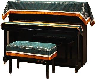 Cubierta de piano cubierta de piano de cola Piano nórdica medias de la cubierta de 3 piezas de tela de toalla Piano simple moderna cubierta de polvo americana heces cubierta del teclado del paño