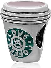 Love Coffee Cup Charm 925 Sterling Silver Mug Charm Love Coffee Charm for DIY Charms Bracelet