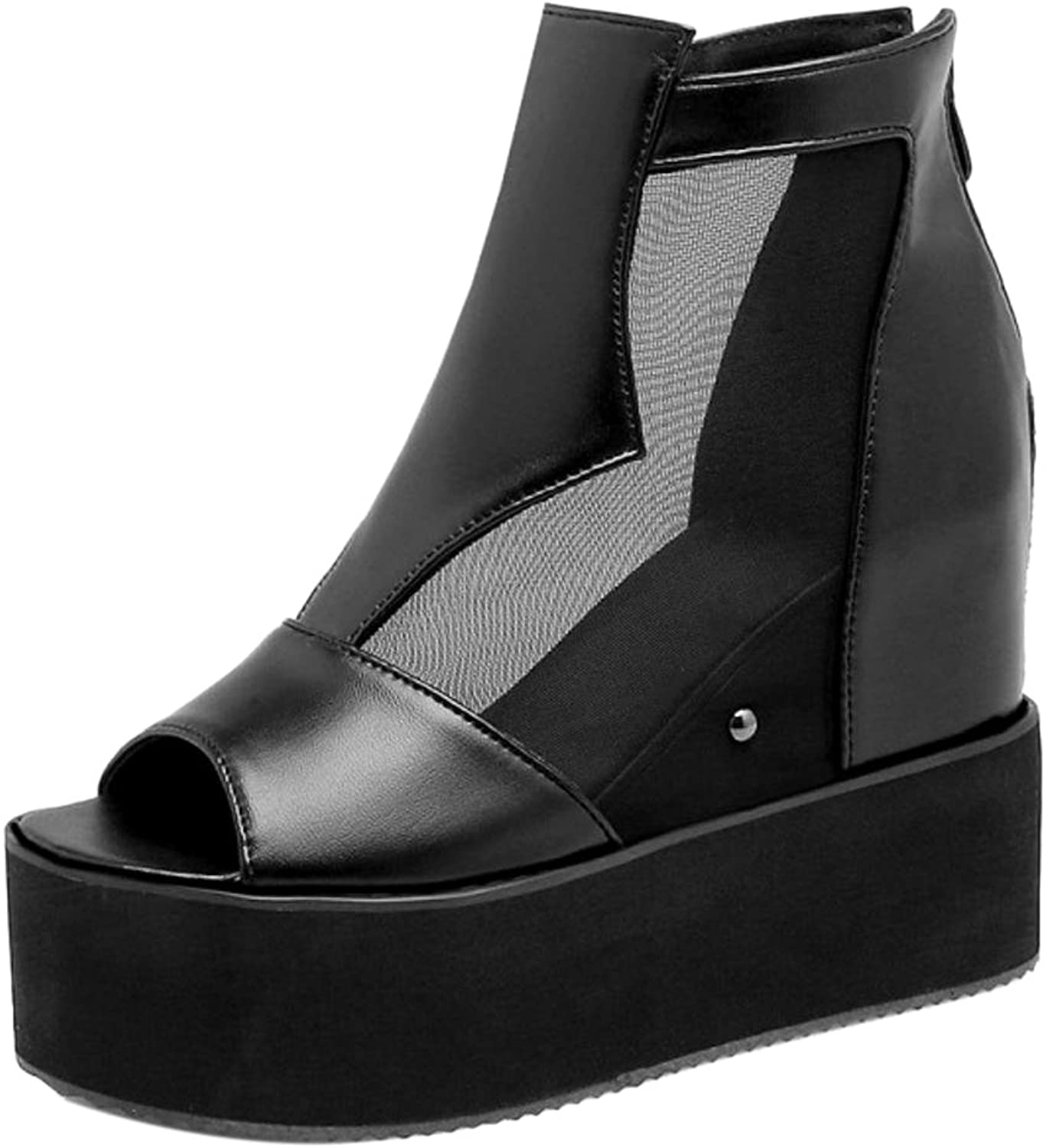 KemeKiss Women Wedge Heel Sandals Zipper