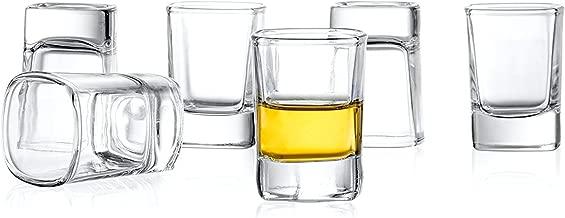 JoyJolt 6-Pack Heavy Base Shot Glass Set, 2-Ounce Shot Glasses