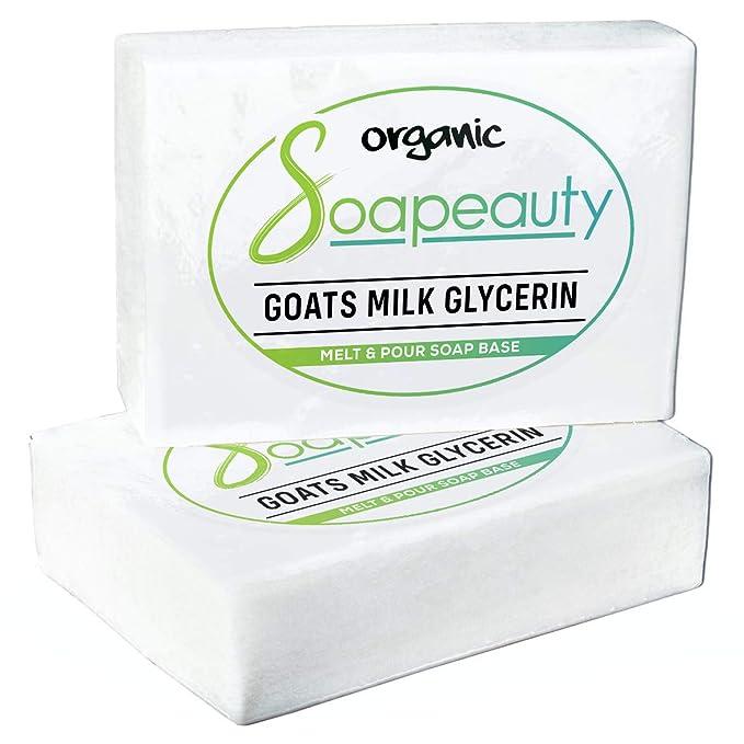 sin SLS//SLES color blanco 1 kg de color blanco Jab/ón de glicerina con base de jab/ón