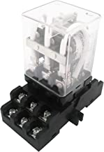 Taiss/JQX-38F 3Z DC 12V Coil 11 Pin 40A 3PDT 3NO 3NC Electromagnetic Relay General Purpose Power Relay with Plug-in Terminal Socket Base (Warranty 1 Years) LJQX-38FC/3Z DC12V
