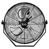 18 Inch Industrial Wall Mount Fan, 3 Speed Commercial Ventilation Metal Fan for Warehouse, Greenhouse, Workshop, Patio, Factory and Basement - High Velocity