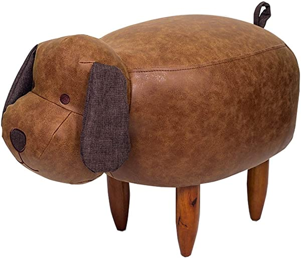 Yzdz Solid Wood Footstool Adult Leather Sofa Stool Creative Shoes Stool Thickening Non Slip Foot Chair Small Dog Size High43cm