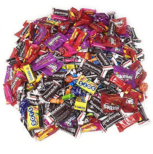 Assorted Bulk American Candy 11.25 Lb Starbursts FaveReds And Skittles Original And Wild Berry Tootsie Rolls Juniors Tootsie Snack Bars Tootsie Mini Dots Tootsie Pops Fruit Rolls 450+ Ct