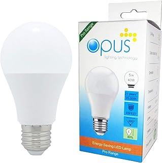 Opus Lighting Technology LED Light Bulb, 5 W, Warm White
