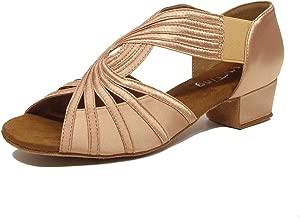 Low Heel Women Ballroom Dance Shoes Salsa Batchata Social Beginner Practice Wedding Dancing 2'' Heels YT04