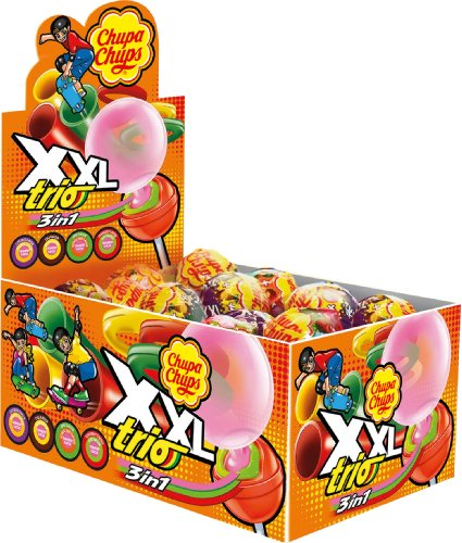 Chupa Chups XXL Trio Lutscher 25er Display, 1er Pack (1 x 725 g)