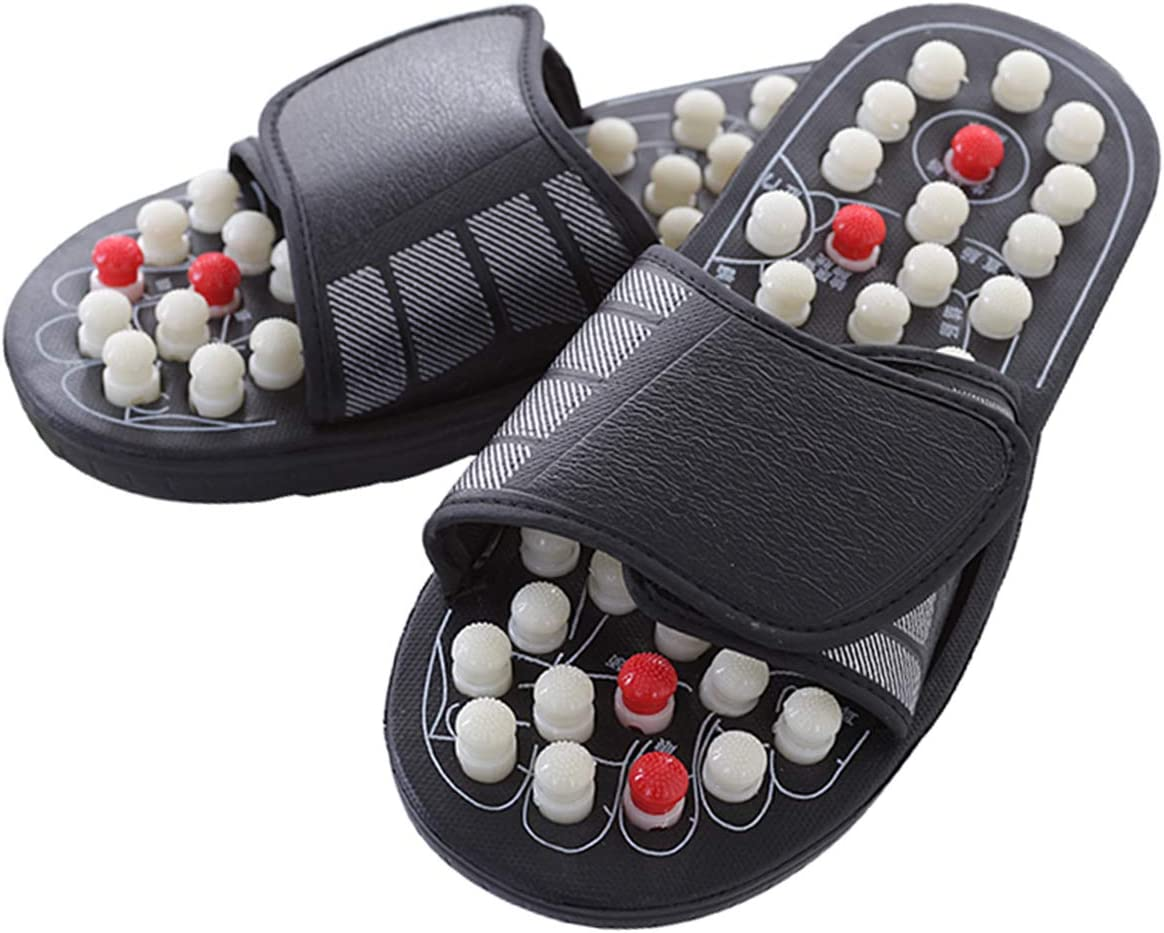 Evaliana Acupoint Rotating Genuine Free Year-end annual account Shipping Foot Massage Sandal Shoes Fe Slippers