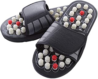 Evaliana Acupoint Rotating Foot Massage Shoes Slippers Sandal Feet Reflexology Acupressure Acupuncture Therapy Medical Unisex
