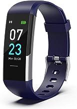 SLuB Smart Bracelet,IP68 Activity Tracker with Heart Rate Monitor,Smart Watch with Pedometer,Waterproof and Dustproof Bloo...