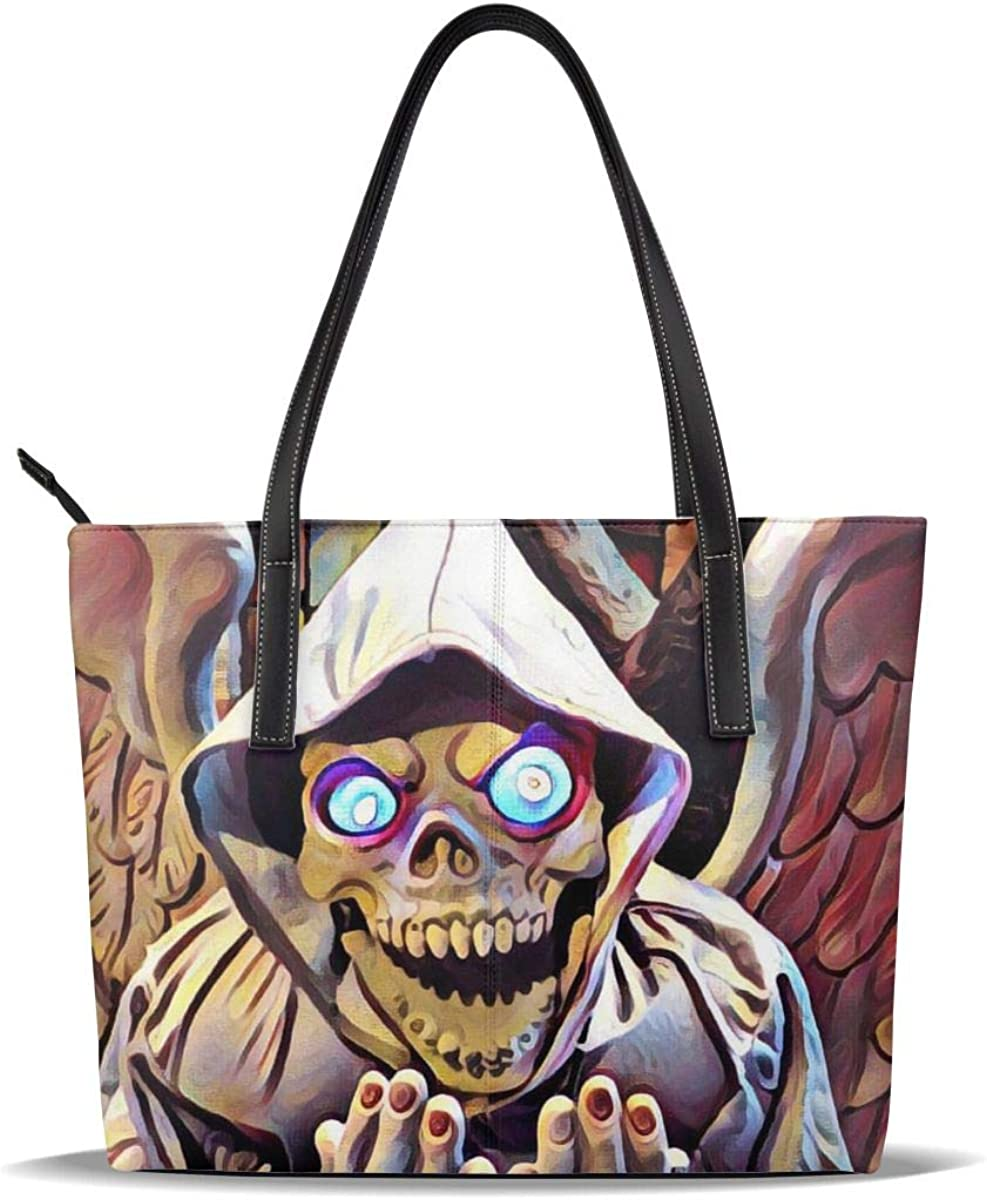 Halloween Skull Devil Art PU Pattern Casual High quality Japan Maker New Hand Printed Leather