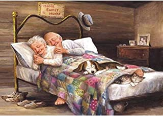 Diamond Painting Happy Old Couple 5D DIY Full Drill Cross Stitch Embroidery