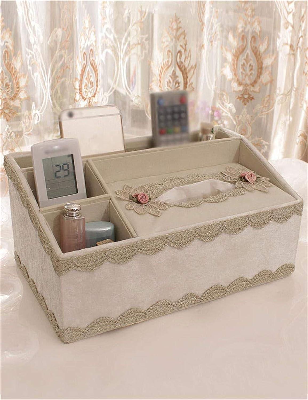 Caja organizadora de almacenamiento portátil, estilo europeo, multifuncional, para toallas, de papel, creativa caja de almacenamiento para escritorio (Color  D, tamao  14 x 18 x 29 cm), A, 141829CM